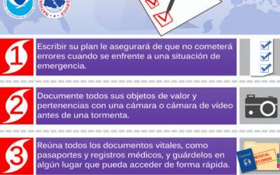 Vamos a hacer juntos, un plan familiar de contingencia contra huracanes hoy