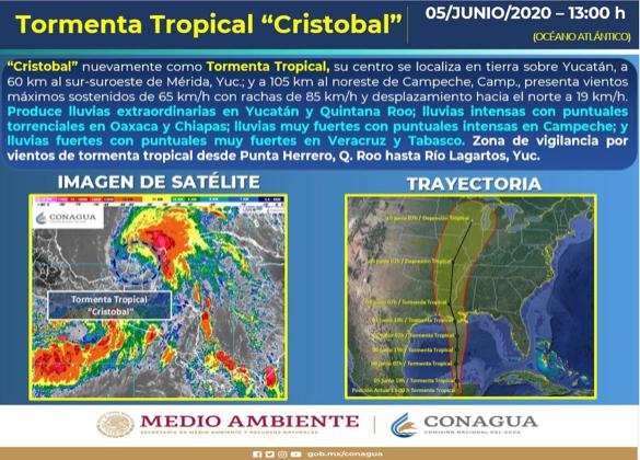 CRISTOBAL AZOTA CON FUERTES LLUVIAS AL SURESTE DEL PAÍS